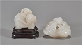 Two Chinese Carved White Jades