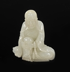 18th Century Fine Antique Chinese Jade Lohan
