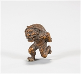 Antique Carved Boxwood Netsuke