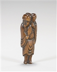 Antique Carved Wood Netsuke