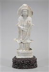Tall Chinese Carved Jadeite Figure of Guanyin