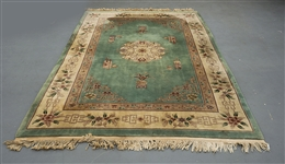 Large Chinese Floral Wool Rug