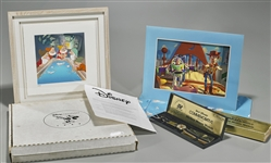 Disney Memorabilia Group: Watch & Lithographs