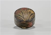 Antique Indian Hand Painted Lidded Box