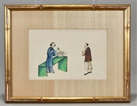 Three Chinese Framed Paintings