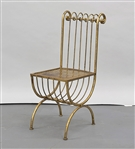Gilt Metal Chair