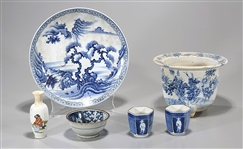 Group of Six Various Chinese & Japanese Porcelains