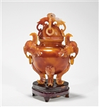 Chinese Agate Covered Censer