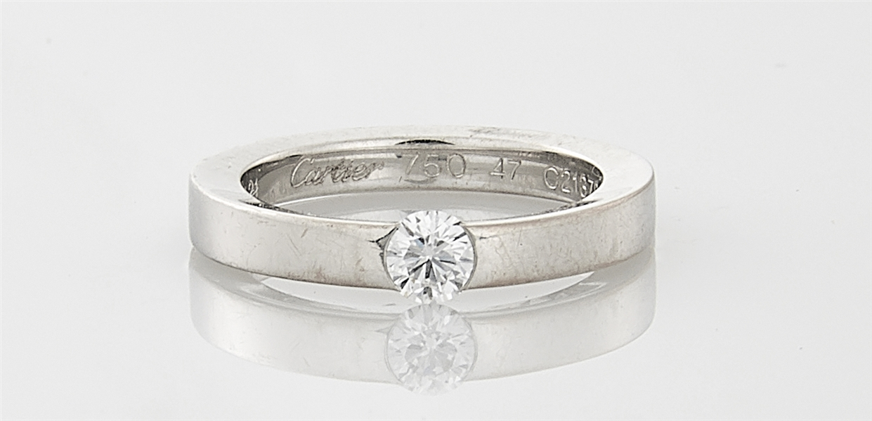 Cartier 18K White Gold & Diamond Ring