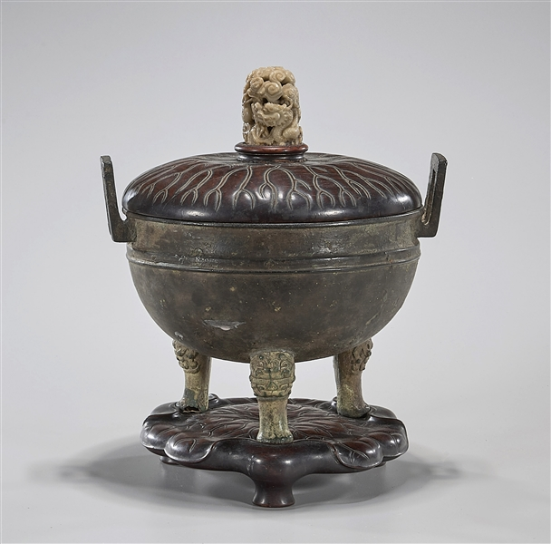 Archaic Chinese Bronze Tripod Ding
