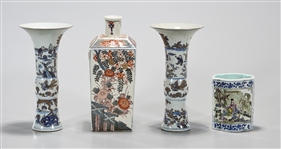 Group of Four Chinese Porcelain Vessels