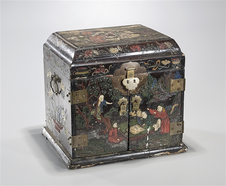 Chinese Decorated Wood Storage Chest