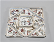 Set of Chinese Enameled Porcelain Tea Saucers