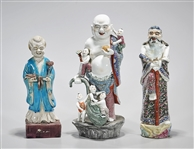 Group of Three Chinese Enameled Porcelain Figures
