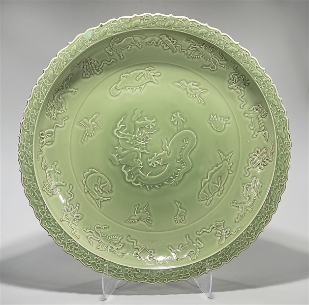 Massive Chinese Porcelain Charger