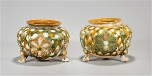 Pair Chinese Tang-Style Ceramic Censers