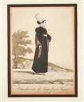 Three Antique Fashion Prints by Georges-Jacques Gatine