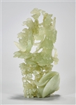 Chinese Carved Bowenite Figure Group