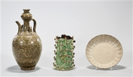 Group of Three Chinese Monochrome Ceramics