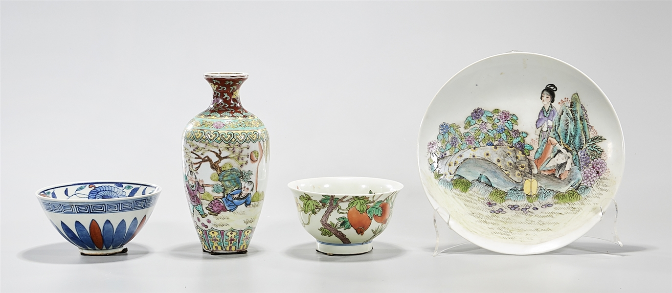 Group of Four Various Chinese Porcelains