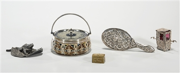 Group of Various Decorative Silver, Enamel and Metal Items