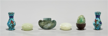 Group of Various Jadeite, Hardstone and Turquoise Carvings