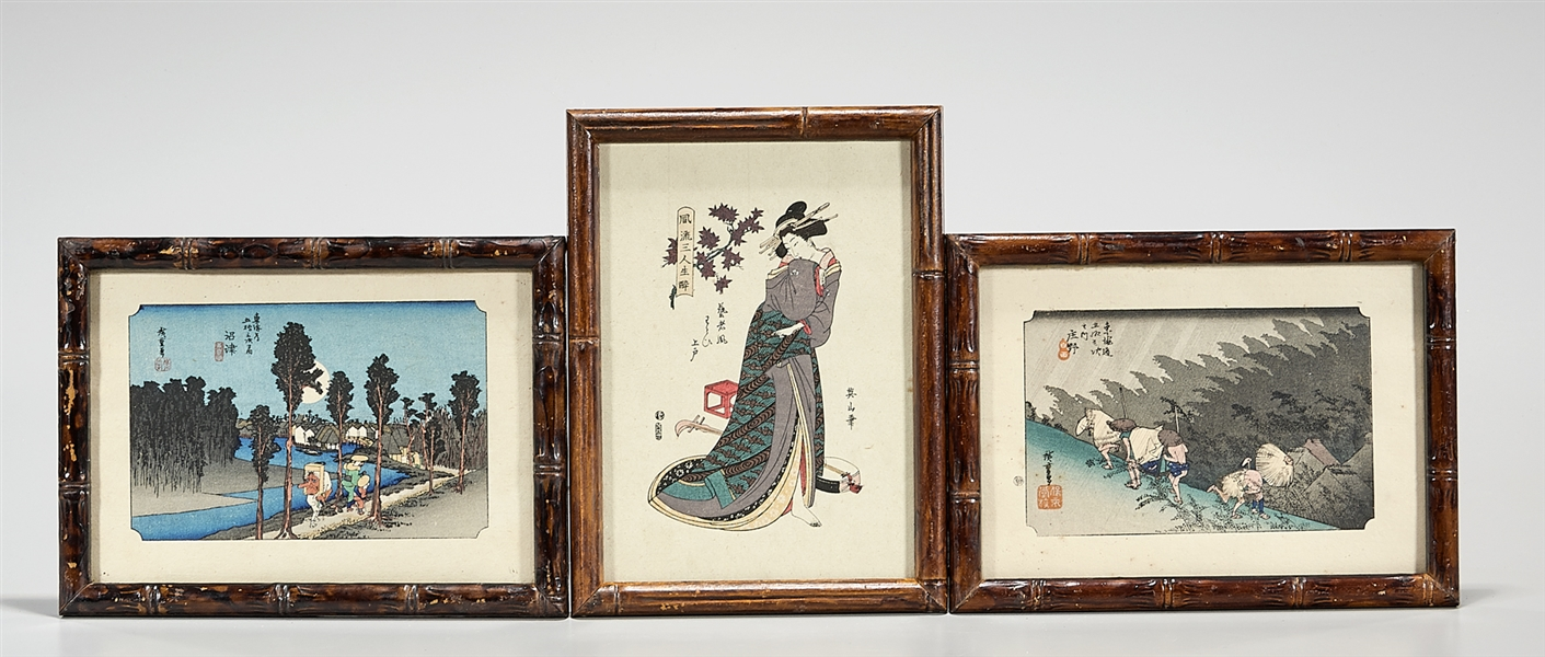 Group of Three Japanese Prints