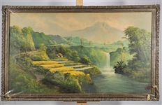 Large Chinese Framed Painting