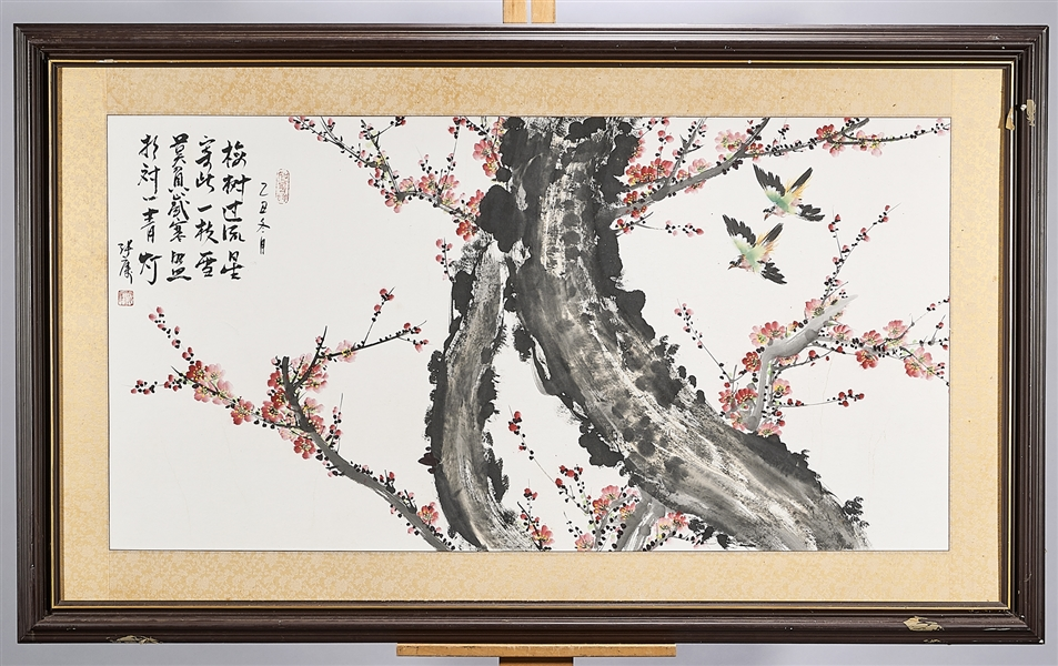 Large Chinese Painting on Paper