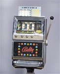 Vintage Bally Slot Machine on Pedestal