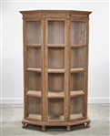 Chinese Wood and Glass Cabinet