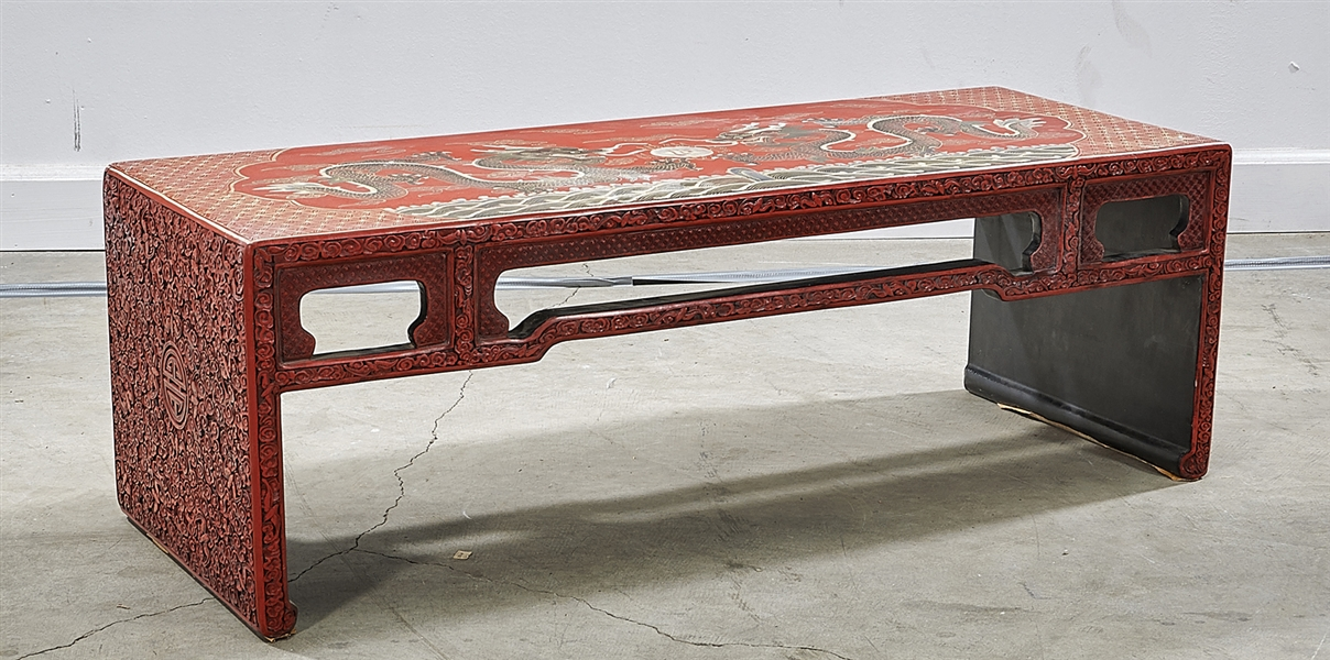 Chinese Painted Low Hard Wood Table