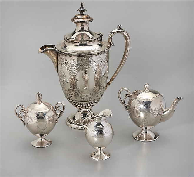 Group of Four Silver Plate Service Pieces