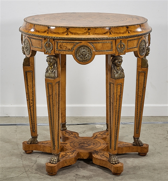 European-Style Painted Wood Table