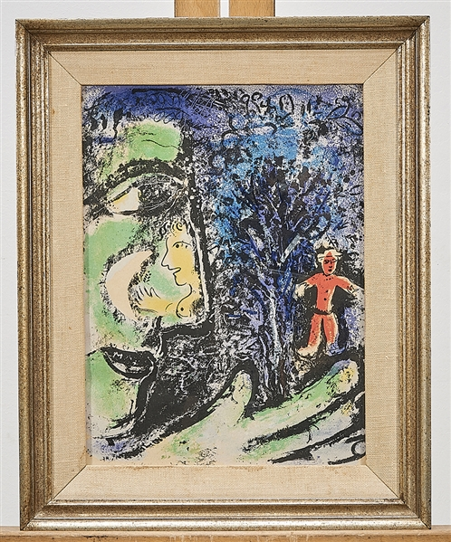 Framed Print in the Manner of Chagall