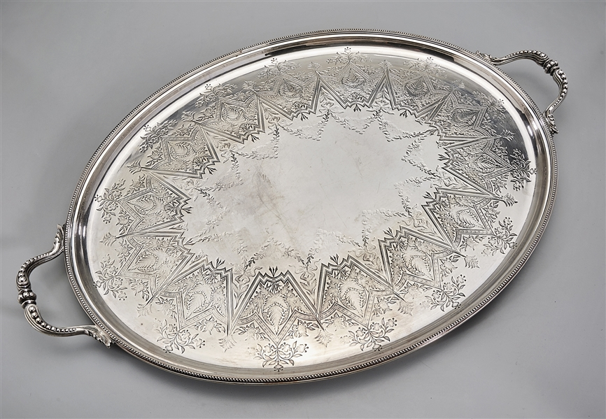 Two Silver Plate Serving Trays