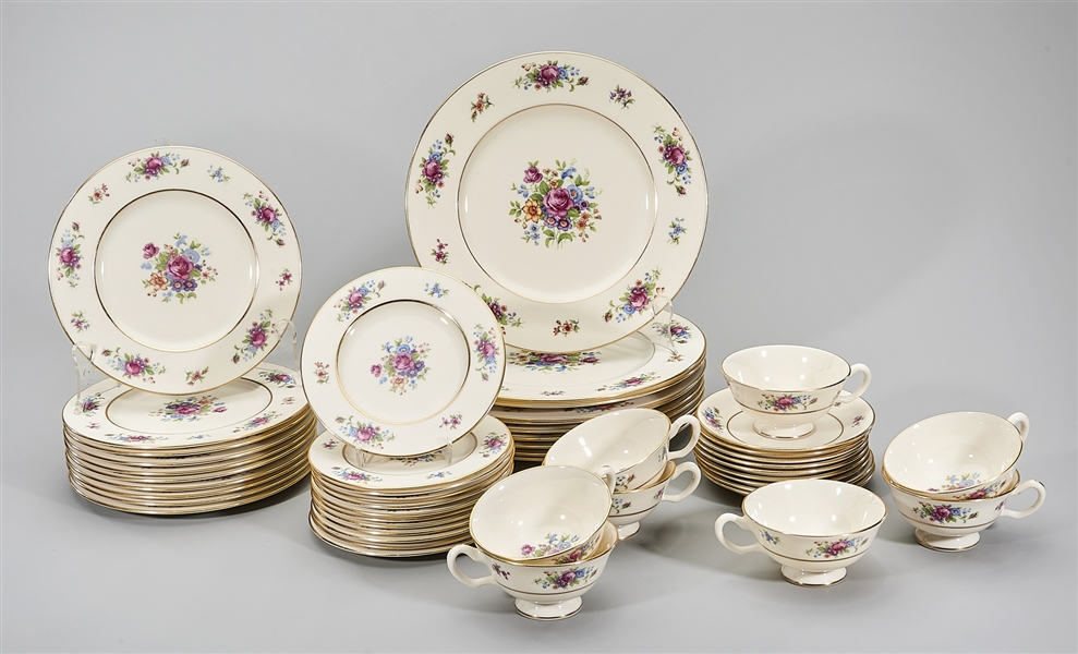 49-Piece Lenox Rose Dinner Set