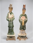 Two Chinese Glazed Pottery Figures
