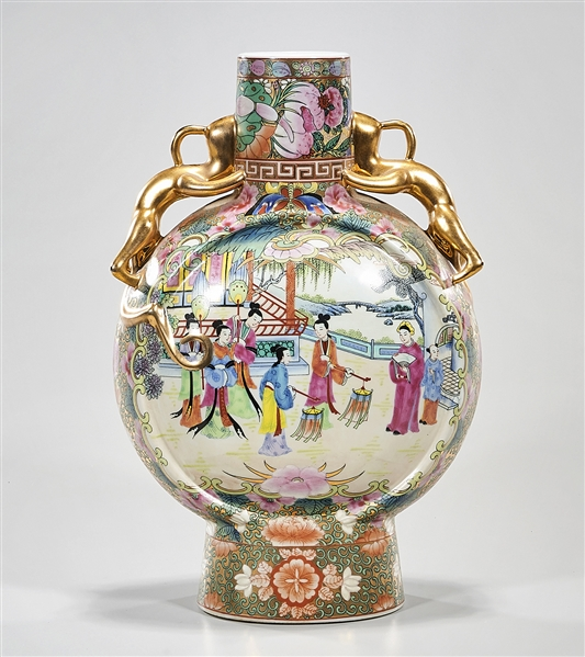 Chinese Enameled Porcelain Moon Flask