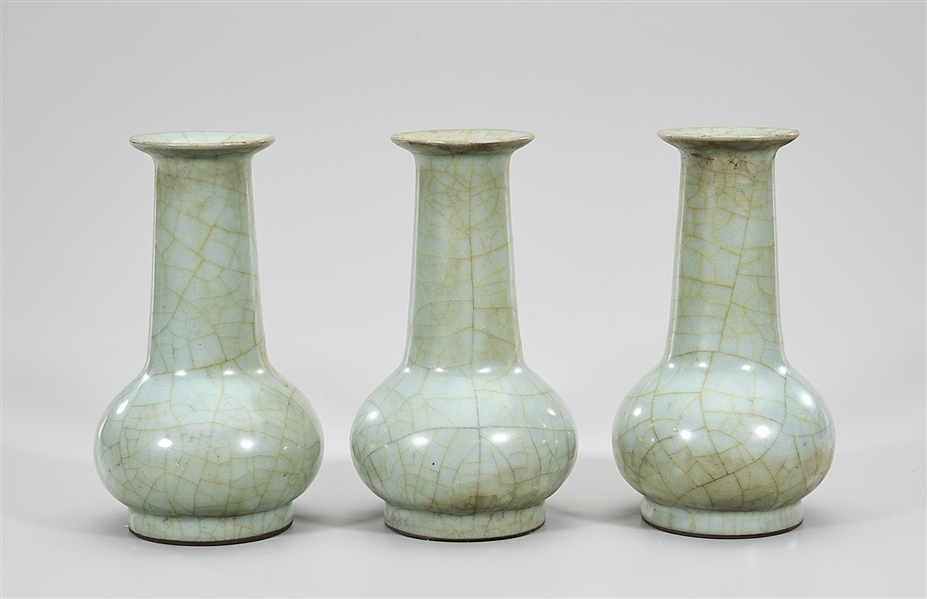 Group of Three Chinese Ru Ware Porcelain Vases