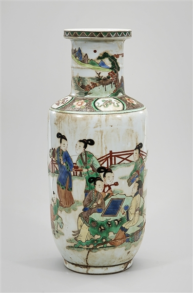Chinese Painted and Enameled Porcelain Vase