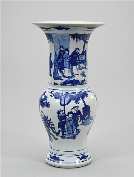 Chinese Blue and White Porcelain Gu-Form Vase