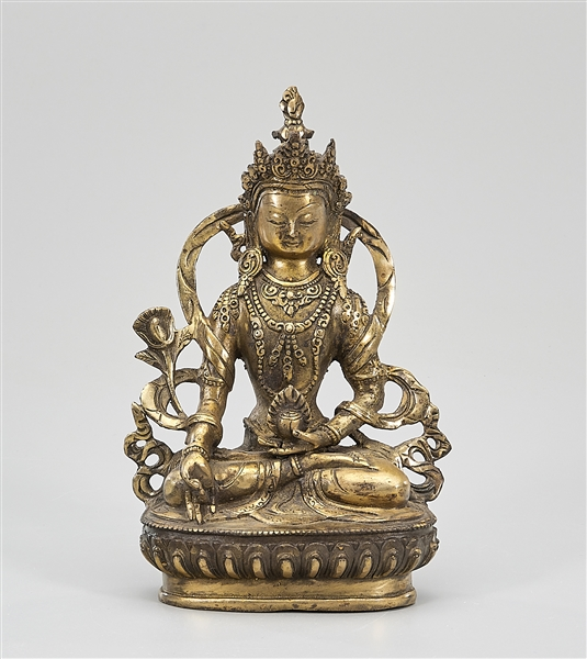 Gilt Bronze Seated Manjushri
