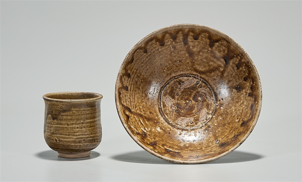 Two Anamese Glazed Pottery Pieces