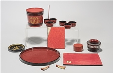Group of Japanese Lacquered Items