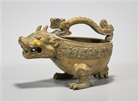 Chinese Archaistic Bronze Animal Form Vessel