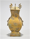 Chinese Archaistic Bronze Covered Vase