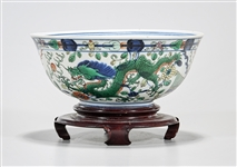 Antique Chinese Enameled Porcelain Bowl