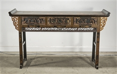 Chinese Painted Hard Wood Altar Table