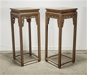 Pair Chinese Wood Stands